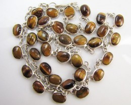 73 Cts large  Tiger eye Necklace  MJA 1177