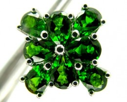 DIOPSIDE SILVER RING  22.95 CTS  SIZE-7.50    RJ-650