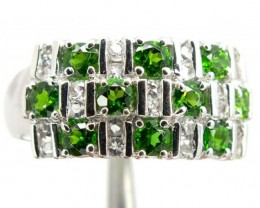 DIOPSIDE  SILVER RING  23.30 CTS  SIZE- 8.50   RJ-332