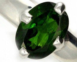 CHROME DIOPSIDE SILVER RING-  [SJ4197]