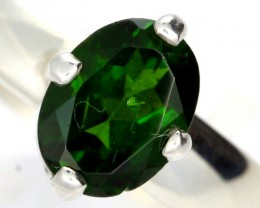 CHROME DIOPSIDE SILVER RING-  [SJ4198]