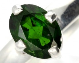 CHROME DIOPSIDE SILVER RING-  [SJ4199]