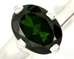 CHROME DIOPSIDE SILVER RING-  [SJ4201]