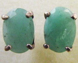 Emerald in silver Earring  MJA 1270
