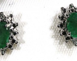 7.45 CTS EMERALD EARRINGS SG-37