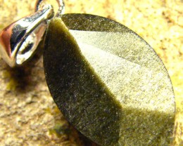 SHIMMERING PYRITE SILVER  PENDANT  6.75 CTS [SJ425]