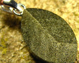 SHIMMERING PYRITE SILVER  PENDANT  6.55 CTS [SJ432]