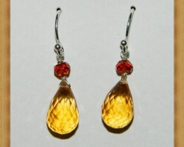 Quality Brazil Citrine .925 Silver Earrings JW9