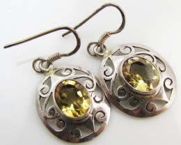 29Cts Bright Citrine set in silver Earrings  MJA 962
