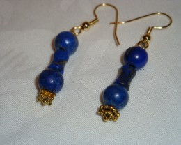 LAPIS LAZULLI DANGLE EARRINGS