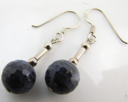 20 Cts   lapis lazuli in silver Earrings   MJA997