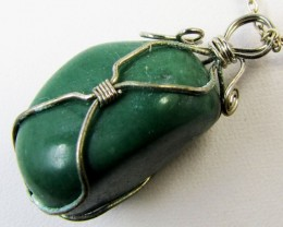 wire wrap  AVENTURINE PENDANTS MJA 295