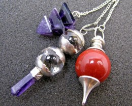 Three mixed Gemstone Pendulums MJA 438