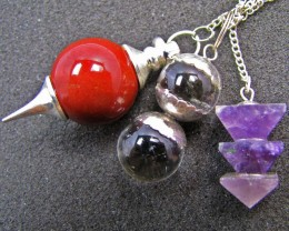 Three mixed Gemstone Pendulums MJA 566