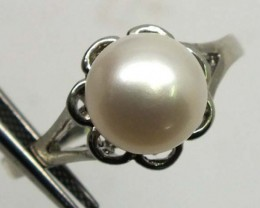 PEARL RING SILVER 13.20 CTS LJ-82