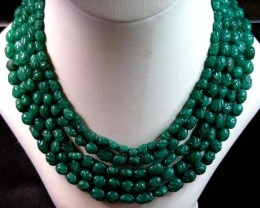 OLD JADE INDIAN  NECKLACE  BEAD STRAND   11 109
