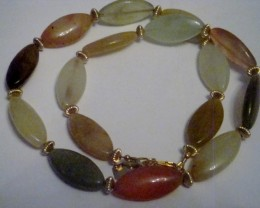 NEW - 18 INCH MULTI-COLORED JADE NECKLACE