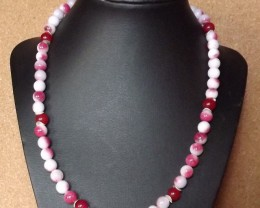 NEW-19 INCH LONG CANDY JADE NECKLACE
