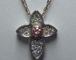 Australian Pink & 34 White-Diamond 18k-Two-Tone-White-and-Yellow-Gold-P