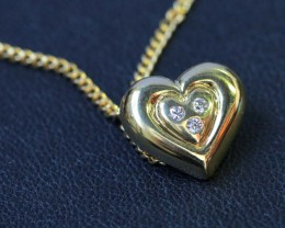 Heart shape pendant ,diamonds 18k gold  LGN950