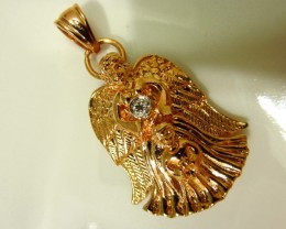 Vintage GUARDIAN ANGEL Pendant With Very Small Diamond