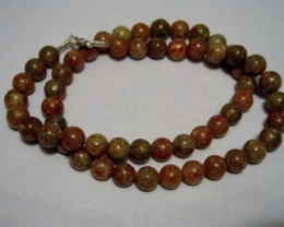 18 INCH AUTUMN JASPER BEADED NECKLACE