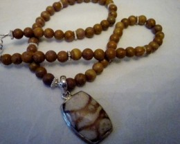NEW  - 17 INCH TIGERSKIN JASPER NECKLACE