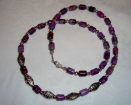 NEW - 20 INCH PURPLE JASPER NECKLACE