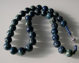 VERY NICE BLUE JASPER NECKLACE 46cm