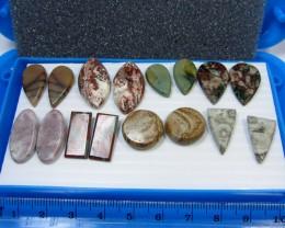 8 MIXED GEMSTONE EARRINGS-RE SELLERS PARCEL  MYGM 498