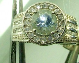 BLUE TOPAZ  SILVER RING  31.50 CTS  SIZE-6.25    RJ-227
