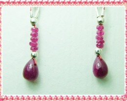 Quality African Ruby .925 Silver Earrings JW41