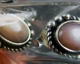 TRADE DEAL 3 PINK SHELLSILVER EARRINGS  MYT 294