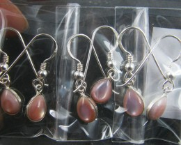 TRADE DEAL 3 PINK SHEL SHEPPARD    SILVER EARRINGS  MYT 222