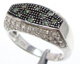 Peridot Gemstone set in silver ring size 9  MJA 800