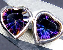 RAINBOW MYSTIC GEMSTONE SILVER EARRINGS  GTJA730