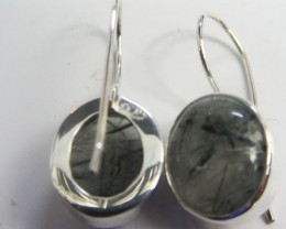 PIN NEEDLES GEMSTONE SHEPPARD HOOK SILVER EARRINGS  MGMG 405