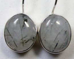 21 CTS RUTILATED QUARTZ  SILVER SHEPPARD  EARRINGS MYGM490