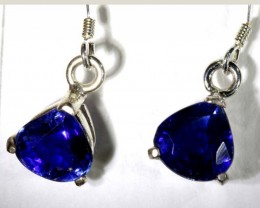 KYNITE SILVER EARRINGS  13 CTS  TBJ-737