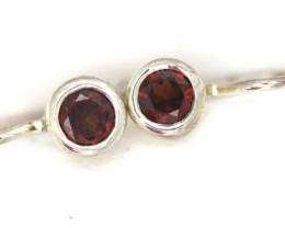 GARNET LOOP EARRINGS 10 CTS  RNJ-1