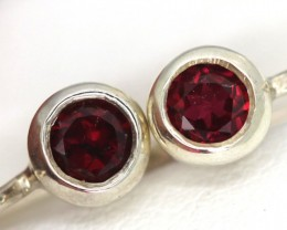 GARNET LOOP EARRINGS6.9  CTS  RNJ-6