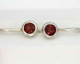 GARNET LOOP EARRINGS 6.6 CTS  RNJ-7