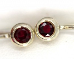 GARNET LOOP EARRINGS  7 CTS  RNJ-10