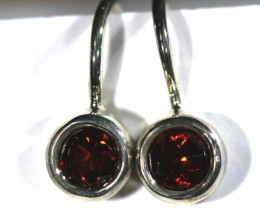 GARNET LOOP EARRINGS 10.20 CTS  RNJ-14