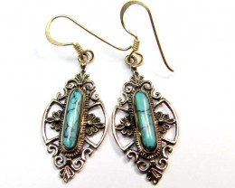BRONZE TURQUOISE EARRINGS RT 275
