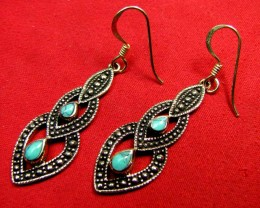 BRONZE TURQUOISE EARRINGS RT 276