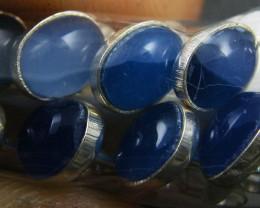TRADE DEAL PARCEL5   BLUE AGATE  SILVER EARRINGS  MYT 186