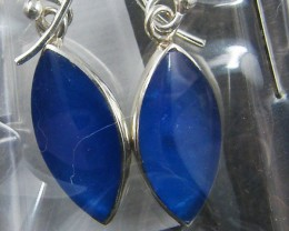 TRADE DEAL 3 BLUE AGATE   SILVER EARRINGS  MYT 311