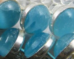 TRADE DEAL PARCEL5 BLUE CATS EYE SILVER EARRINGS  MYT192