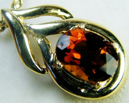 CHAMPAGE TOPAZ SET IN 14 K GOLD PENDANT    MY301